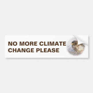 Climate change awareness bumper sticker