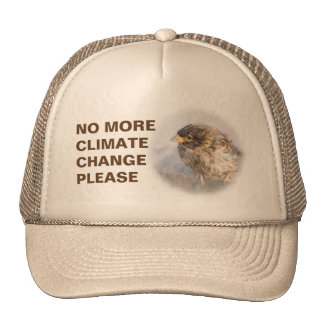 Climate change awareness cap