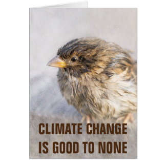 Climate change awareness card