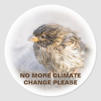 Climate change awareness classic round sticker