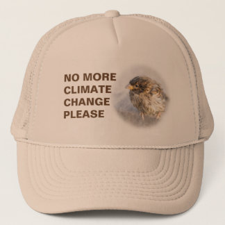 Climate change awareness trucker hat