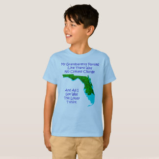 Climate Change - Blue Kids 3 T-Shirt