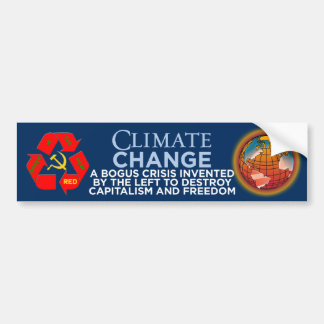 Climate Change-Green Is The New Red Bumper Sticker