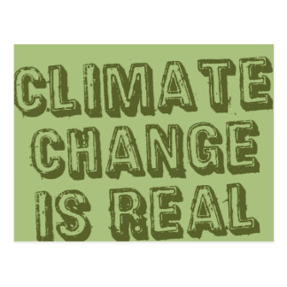 Climate Change - Green on Green Postcard