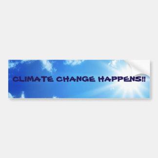 """Climate Change Happens"" Sunny Sky Bumper Sticker"