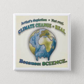 Climate change is real - Button