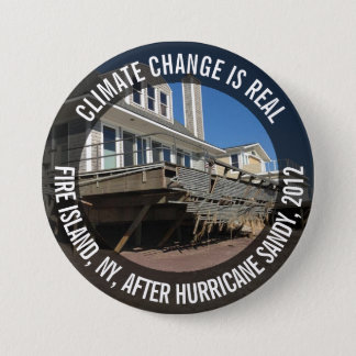 Climate Change is Real, Hurricane Sandy Button