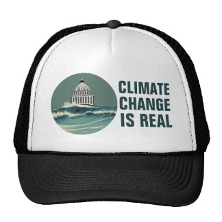 Climate Change Is Real  Submerged U.S. Capitol Cap