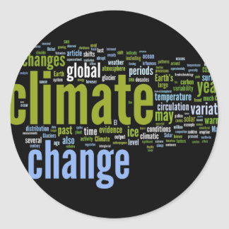 climate change one classic round sticker