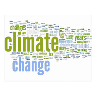 climate change one postcard