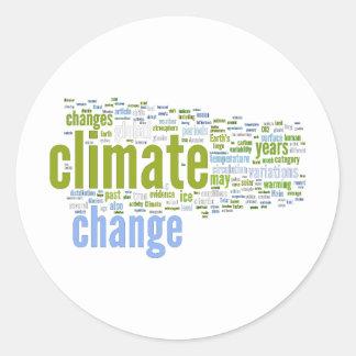 climate change one round sticker