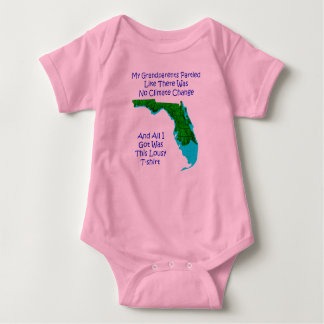 CLIMATE CHANGE - pink baby 3 Baby Bodysuit