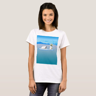Climate Change: Polar Bear Going Under T-Shirt