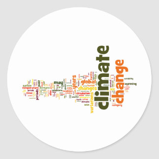 climate change two sticker