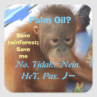 Climate Change withPalm Oil Square Sticker