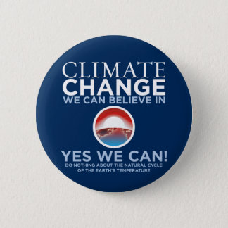 Climate Change - Yes We Can Obama Parody Button