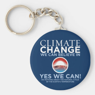 Climate Change - Yes We Can Obama Parody Keychain