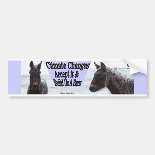 Climate changes - mules in snow bumper sticker