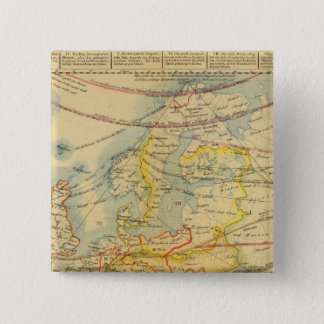 Climate of Europe Map 15 Cm Square Badge