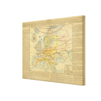 Climate of Europe Map Canvas Print