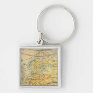 Climate of Europe Map Key Ring