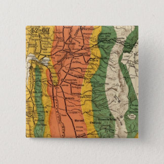 Climatic map of California 15 Cm Square Badge