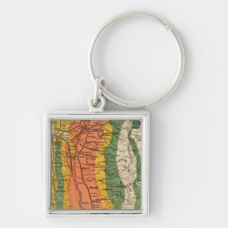 Climatic map of California Key Ring