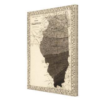 Climatological map, Illinois Canvas Print
