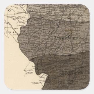 Climatological map, Illinois Square Sticker