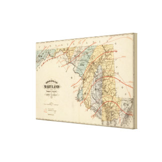 Climatological map of the State of Maryland Canvas Print