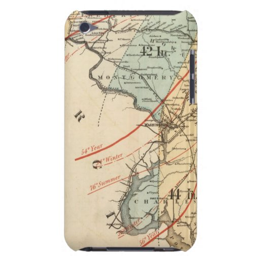 Climatological map of the State of Maryland Barely There iPod Cover