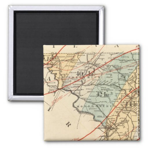 Climatological map of the State of Maryland Refrigerator Magnet