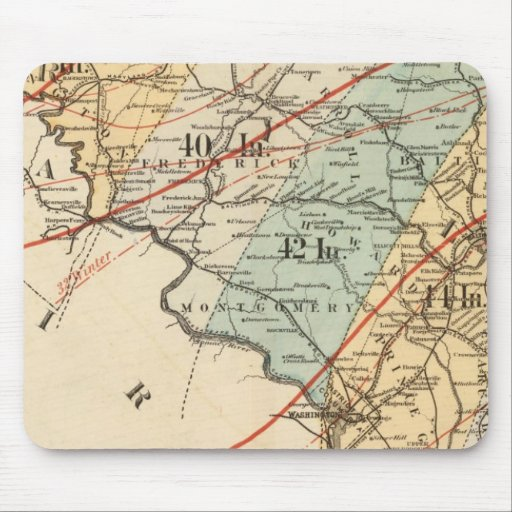 Climatological map of the State of Maryland Mouse Pad