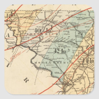 Climatological map of the State of Maryland Square Sticker