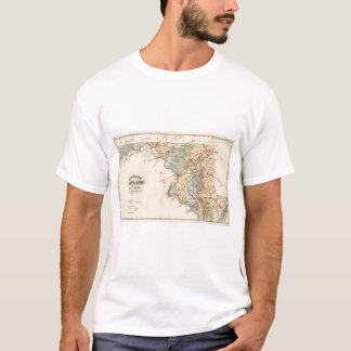 Climatological map of the State of Maryland T-Shirt