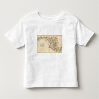 Climatological map of the State of Maryland Toddler T-Shirt