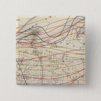 Climatological map of Wisconsin 15 Cm Square Badge