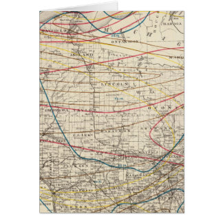 Climatological map of Wisconsin Greeting Card