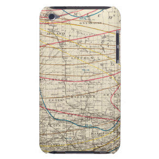 Climatological map of Wisconsin iPod Touch Case