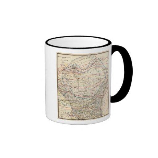 Climatological map of Wisconsin Coffee Mugs