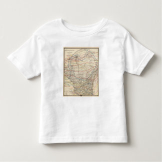 Climatological map of Wisconsin Toddler T-Shirt