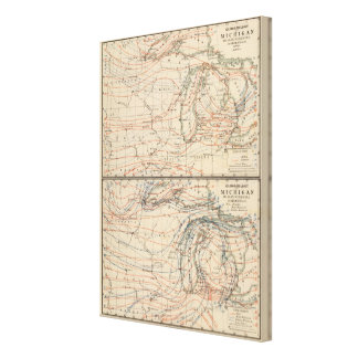 Climatology of Michigan Atlas Mao Canvas Print