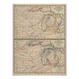Climatology of Michigan Atlas Mao Poster