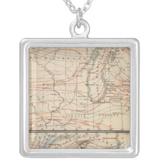 Climatology of Michigan Atlas Mao Silver Plated Necklace