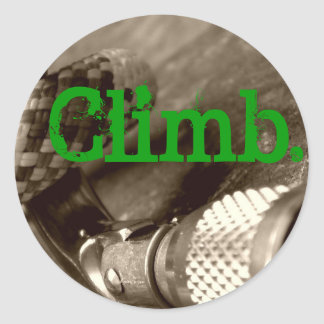 Climb2 Classic Round Sticker