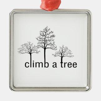 Climb a tree design christmas ornament
