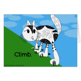 Climb! Cute Kitty Notecard