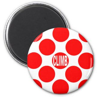 Climb Red Dot Refrigerator Magnets
