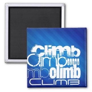 Climb; Royal Blue Stripes Fridge Magnets