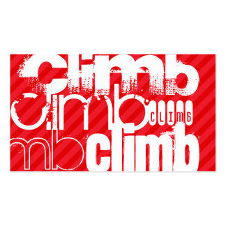 Climb; Scarlet Red Stripes Double-Sided Standard Business Cards (Pack Of 100)